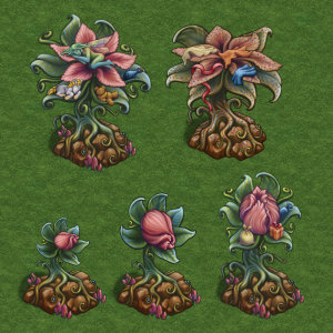 Fantasy Kingdoms (Facebook) Fairy Bloom Artifact Art Assets