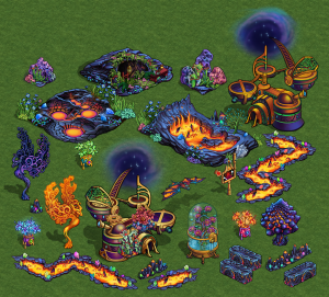 Fantasy Kingdoms (Facebook) - Asset Creation: Lava Set