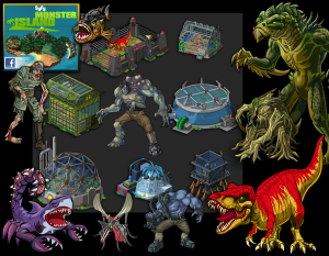 SyFy Monster Island (Facebook) - Asset Creation