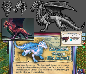 Fantasy Kingdoms Dragon 3D and Sketches