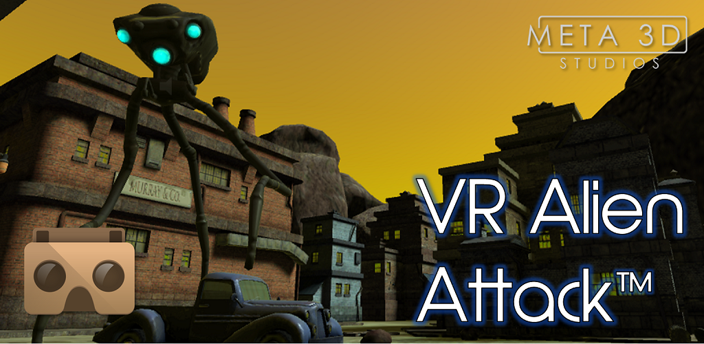 VR Alien Attack tm Meta3DLogo Feature Graphic 1024 x 500